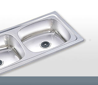 anupama international steel double kitchen sink single bowl single drain - Kitchen Sinks Manufacturers