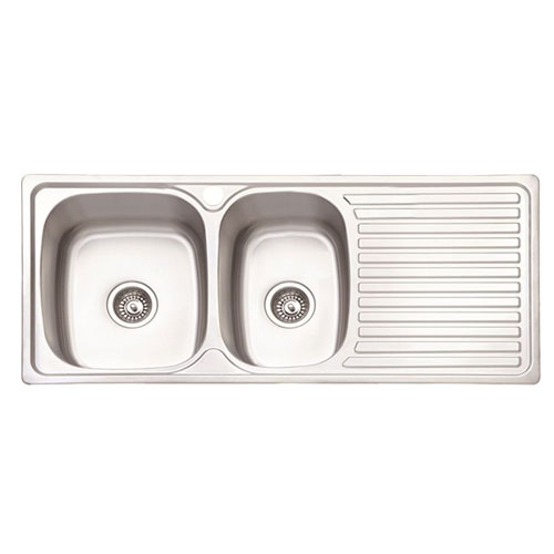 Double Bowl Kitchen Drain SS Sinks