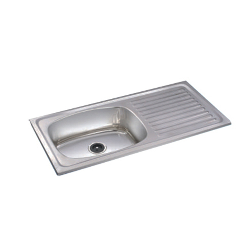 SS Sink with Drain Board